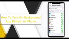 How To Save Some Battery Life With Background App Refresh. Did you know that you can control installed apps on background refresh in Mobile Data and Wifi on . Did You Know, Knowing You, Wifi, Ipad, Iphone