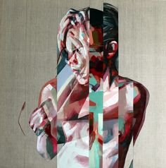 Simon Birch is a British-born artist who makes paintings of naked women, both very colorful and very graphic giving a sense, almost abstract representation. Simon Birch, Ap Drawing, Painting & Drawing, Art And Illustration, Famous Abstract Artists, Figurative Kunst, Identity Art, Glitch Art, Art Abstrait