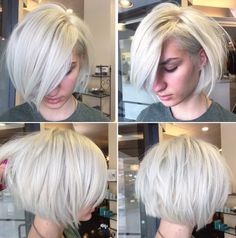 50 Choppy Bobs Too Damn Good Not to Copy The choppy bob is a contemporary take on the classic short Choppy Bob Hairstyles, Hairstyles With Bangs, Hairstyles Men, Hair Styles 2016, Curly Hair Styles, Blonde Layers, Textured Haircut, Textured Bob, Blonder Bob