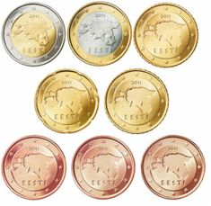 Alle euromunten - Euromunten en biljetten Euro, Coins, Personalized Items, Collection, Countries, Coin Collecting, Money, Rooms