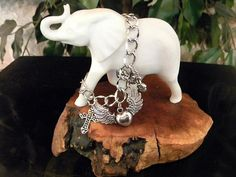 Born To Ride Charm Bracelet with Flying by CreationsbyDreamLady