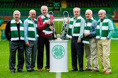 Lisbon Lions Willie Wallace, Bobby Lennox, Billy McNeill, Stevie Chalmers, John Clark and Bertie Auld look ahead to their trip to the Champions League Final John Clark, Celtic Fc, European Cup, Picture Editor, Champions League, Glasgow, Daily Record, Top Photographers, Football