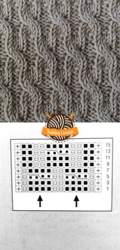 CROSSED STITCH MODEL AND PATTERN 8 – Knitting Concept Knitting Paterns, Knitting Charts, Knitting Stitches, Knit Patterns, Hand Knitting, Stitch Patterns, Yarn Projects, Knitting Projects, Crochet Motif