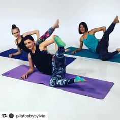 My little Pilates segment at Loved every minute of it, but was nervous as well. These beautiful ladies made so much less stressful. Pilates Workout Routine, Pilates Mat, Pilates Training, Pilates Video, Pilates Studio, Pilates Reformer Exercises, Pilates For Beginners, Butt Workout, Workout Fitness