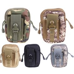 Multifunction Tactical Molle Nylon Waist Belt Bags Wallet Pouch Purse Outdoor Sport Tactica Waist Pack EDC Camping Hiking Bag