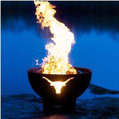 "Fire Pit Art Long Horn - 36"""" Steel Fire Pit (LH)"