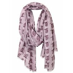 Purple owl scarf $24