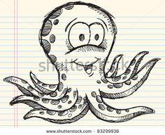 Doodle Drawings   Notebook Sketch Doodle Drawing Octopus Vector Illustration art design ...