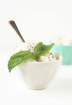 Fresh Mint Froyo with Dark Chocolate Chunks...or what I plan on doing with my tubs of @Chobani