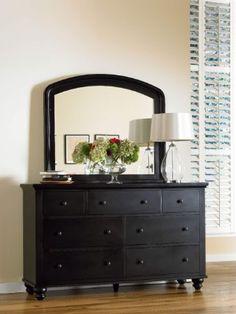 amazoncom colorado home cambridge black double dresser with mirror - Farrow And Ball Brinjal