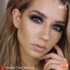 Brown Smokey Eye Makeup, Dramatic Eye Makeup, Flawless Face Makeup, Contour Makeup, Krystal Clear Makeup, Disney Eye Makeup, Hooded Eye Makeup Tutorial, Everyday Eye Makeup, Beginners Eye Makeup