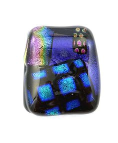 Fused Glass Pendant  Large Dichroic Glass by buttonsbyrobin2, $14.99