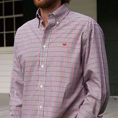 Ladies, make sure your man is dressed to the nines for the next GA football game! This @southernmarsh button down is a must have for this time of year. Online and at the commerce store. #shopPD