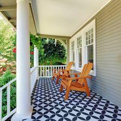 1-Stenciled-cement-patio-floor-stencils-tile-stencil-geometric-design