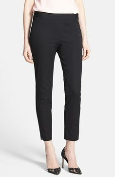 black side slit ankle pants {40% now during Nordstrom's Half Yearly Sale!!}