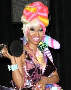 Nicki Minajs twisted twisty hairstyle