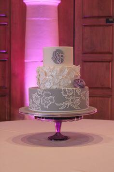 Lavender & Grey Wedding Cake   Just The Frosting