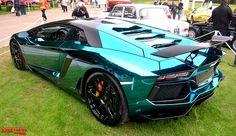 Lamborghini Aventador blue chrome