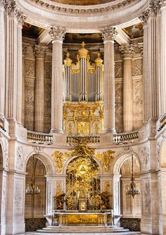 Inside Palace Of Versailles - Church Altar Inside Palace ...