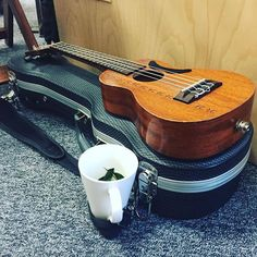 #Ukulele #Choir practice is happening with chocolate mint tea!