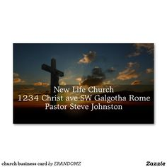 10 Best Church Business Card Images On Pinterest Name Cards