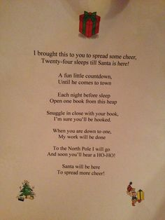 Countdown to Christmas Poem