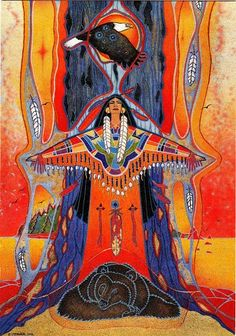 Art - Goddesses, Muses & Spiritual Art - Freydoon Rassouli & Others, Ellen Uytewaal kK Native American Paintings, Native American Artists, Arte Haida, American Indian Art, American Women, American Indians, American History, Spirited Art, Southwest Art