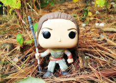 Star Wars Rey Funko Pop.  I love this image of Rey.   She was an epic Character in The Force Awakens.  #starwars #funkopop