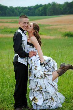my camo prom dress