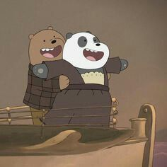 We Bare Bears - Titanic We Bare Bears Wallpapers, Panda Wallpapers, Cute Cartoon Wallpapers, Cartoon Pics, 3 Bears, Cute Bears, Bear Wallpaper, Disney Wallpaper, Bear Gif