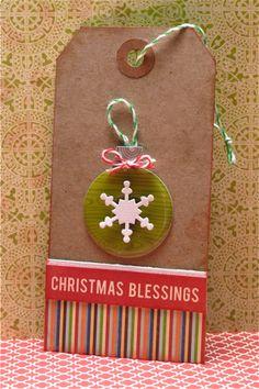 Christmas Blessings Tag by Kim Frantz via Jillibean Soup Blog