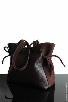 Женские сумки ручной работы. Ярмарка Мастеров - ручная работа. Купить Сумка кожаная, сумка замша, коричневая сумка, сумка на осень. Handmade.