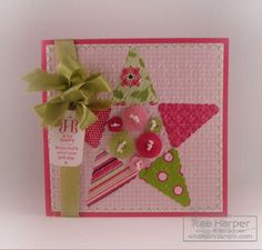 Stampin' Up!  Pennant Punch  Rae Harper  Quilted Star