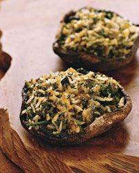 Poblano-and-Cheddar-Stuffed Portobello Mushrooms Recipe on Food & Wine