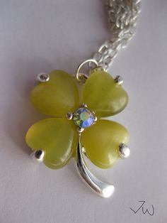 Lucky Leaf Necklace by JWPersonalShop on Etsy, $13.99