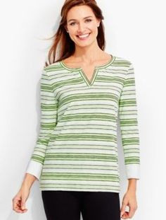 Talbots - Tidal-Stripes Pullover |  |  Discover your new look at Talbots. Shop our Tidal-Stripes Pullover for stylish clothing and accessories with a modern twist at Talbots