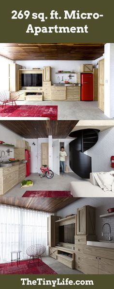 Micro-apartments pack big style into a small footprint.