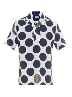 Kenzo Dot-print cotton shirt