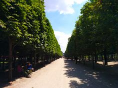 The perfect symmetry of the Jardin des Tuileries