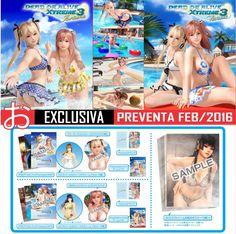 """Dead or Alive Xtreme 3 ~Strongest Edition~ $6,165 Aparta desde $600 Incluye: - Videojuego para PS4 & PSVita - 4 DLC - Fotolibro """"Venus"""" - Fotolibro """"Fortune"""" - Juego de Cartas """"Fortune"""" - Juego de Cartas """"Venus"""" - Mouse Pad 3D """"Honoka"""" - Mouse Pad 3D """"Marie Rose"""" - 9 Posters Plástificados"""