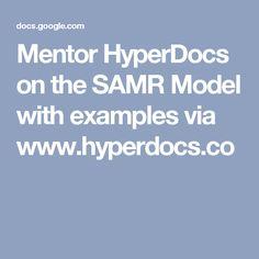 Mentor HyperDocs on