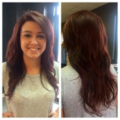 This is Hali! We love her new chocolate-red look! She can rock anything! #schwarzkopf #royal