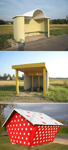 Estonian bus stops.