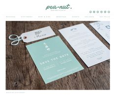Pea-nut logo and website redesign #rebranding   [ graphic design, stationery, logos, notecards, business cards, invitations and more! ]  www.pea-nut.com
