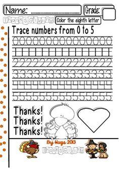 THANKSGIVING MATHS CENTERS (6 DIFFERENT PARTS FOR PRE-K TO 1ST GRADE) - TeachersPayTeachers.com