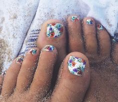 Nails toes 45 Cute Toe Nail designs and Ideas White and floral tropical summer spring nail design Toe Nail designs Cute Toenail Designs, Flower Nail Designs, Nail Designs Spring, Toe Nail Designs, Nails Design, Design Design, Cute Toe Nails, Toe Nail Art, Pretty Nails