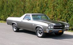 1970 Chevrolet El-Camino muscle classic pickup camino hot rod rods wallpaper background