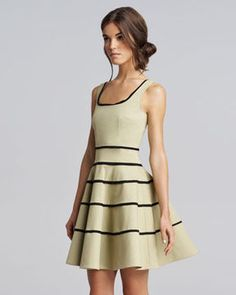 RED Valentino Striped Tricotine Dress on shopstyle.com