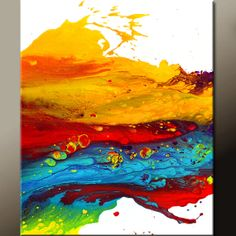 Original Abstract Canvas Art Painting 20x24 by wostudios on Etsy, $79.00