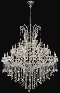 Chandelier crystal chandeliers lighting 52x60 a83 silver275636 buy maria theresa clear crystal chandelier w 49 lights in chrome aloadofball Images